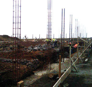Construction of the Corvo Island Waste Center