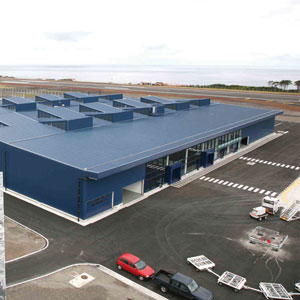 Constructi on of Cargo Warehouse in Pico Island Airport, Azores: inner accesses of AR area